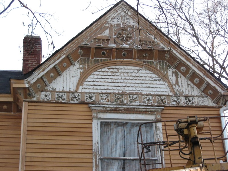 Gable after scraping