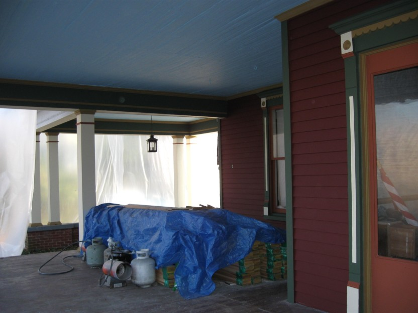 Porch Looking East and Carport